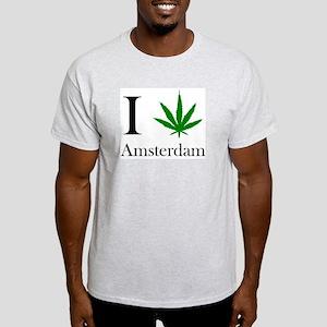 I [love] Amsterdam Ash Grey T-Shirt